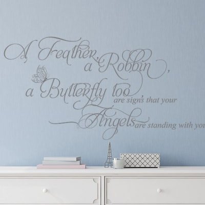 Angels Feathers Butterfly Wall Decal