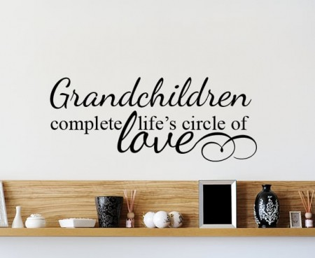 Grandchildren Circle Of Love Wall Decal