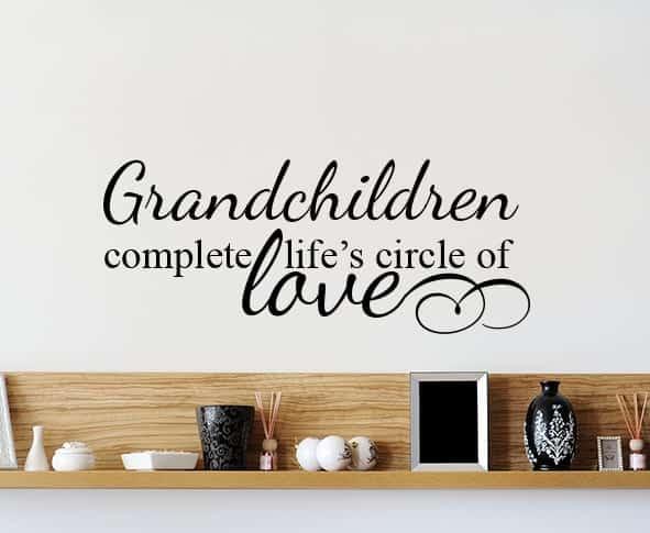 Grandchildren Circle Of Love Wall Decal