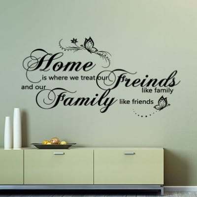 Home Friends Family Wall Decal Sticker