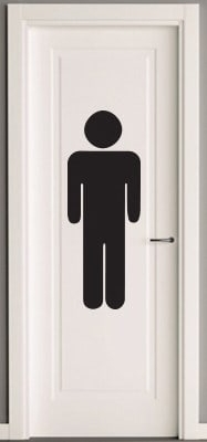 Men's Icon Toilets Sign Decal