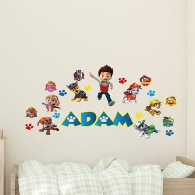 Paw Patrol Paw Print Name Wall Decal