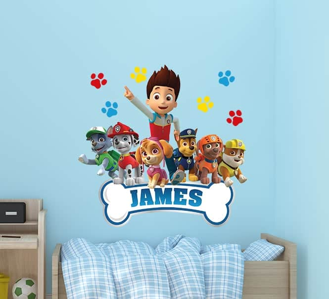 Paw Patrol Name Wall Decal, Kids Name Wall Decals & Stickers
