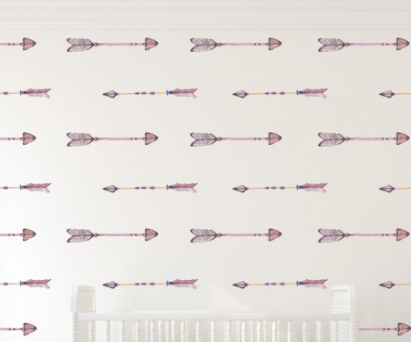 Watercolor Arrows Wall Decal Set