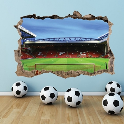 Liverpool Stadium Anfield Smashed Wall Decal