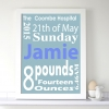Personalised Baby Date of Birth Picture Frame