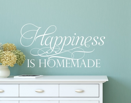 Happiness Homemade Wall Decal, Happiness Homemade Wall sticker, Kitchen Wall Decal, home wall quote