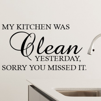 My Kitchen Was Clean Wall Decal