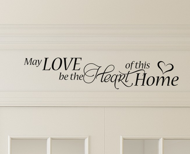 May Love be the Heart Wall Decal