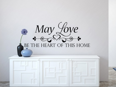 May Love Wall Decal, Wall Decal, Happiness Homemade Wall sticker, Kitchen Wall Decal, home wall quote