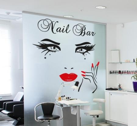 Nail Bar Beauty Eyes Wall Decal