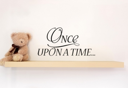 Once Upon A Time Wall Decal Sticker, nursery wall decal, nursery wall sticker, nursery wall quote, wall decal, kid's wall quotes