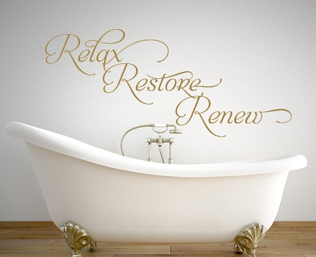 Add A Relaxing Atmosphere With This Relax Restore Renew Wall Decal - Wall decals relax