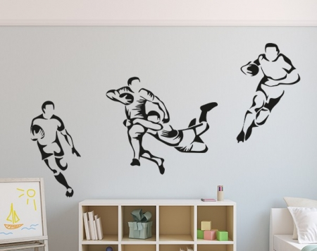Rugby Players Wall Decal Sticker