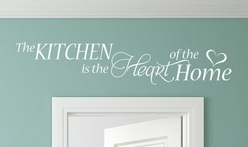 The Kitchen is the Heart Wall Decal