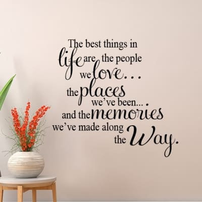 Best things Wall Decal Sticker