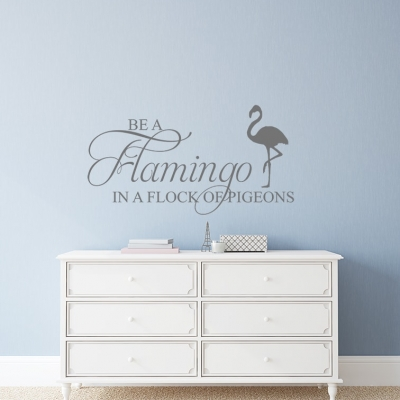 Be a Flamingo Wall Decal, wall decal, wall sticker, wall quote, flamingo wall quote, be a flamingo