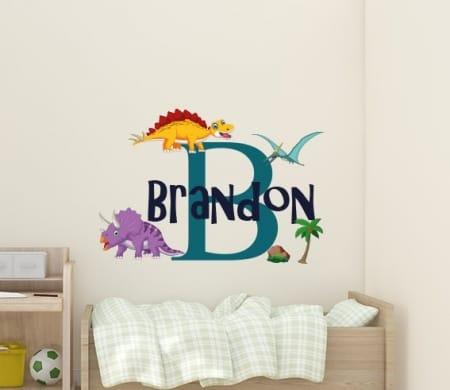 Dinosaur Name Wall Decal