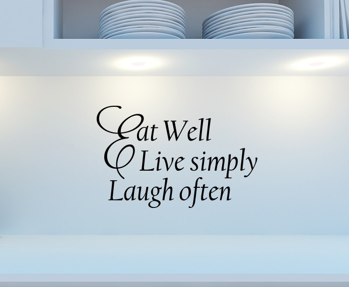 Eat Well Wall Decal