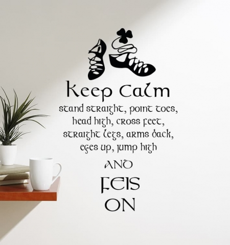 Irish Dance Feis On Wall Decal