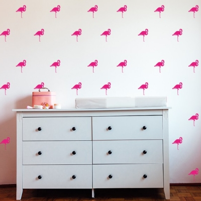 Flamingo Wall Decal Set