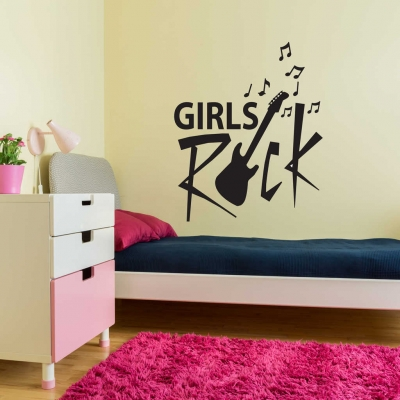 Girls Rock Wall Decal