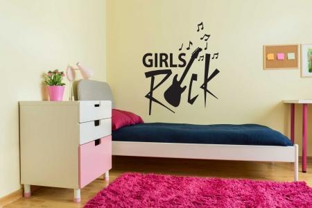 Girls Rock Wall Decal