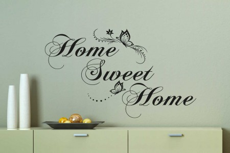 Home Sweet Home Butterfly Wall Decal Sticker