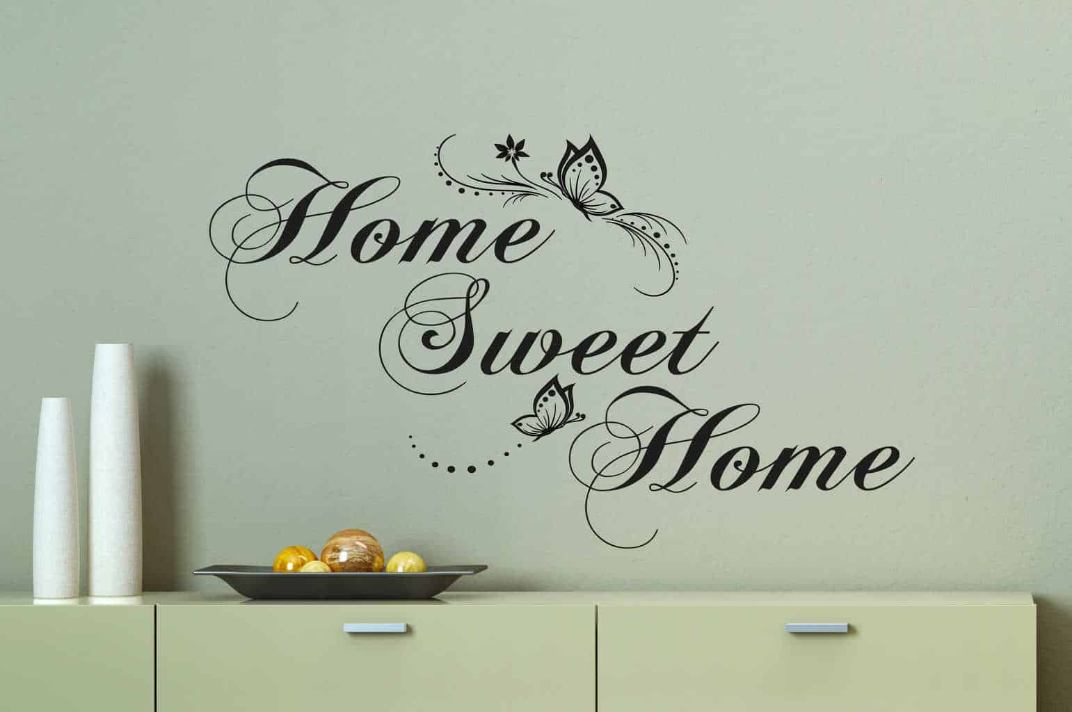 home sweet home butterfly wall decal sticker by ey decals. Black Bedroom Furniture Sets. Home Design Ideas