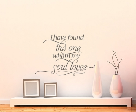 I have Found the One Wall Decal