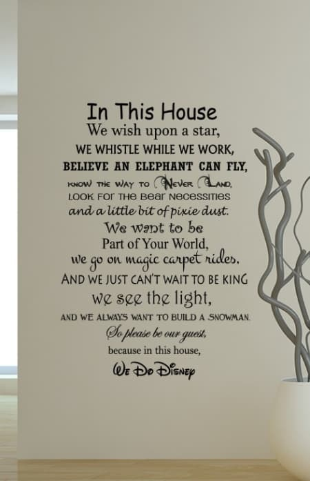 We Do Disney Wall Decal Sticker