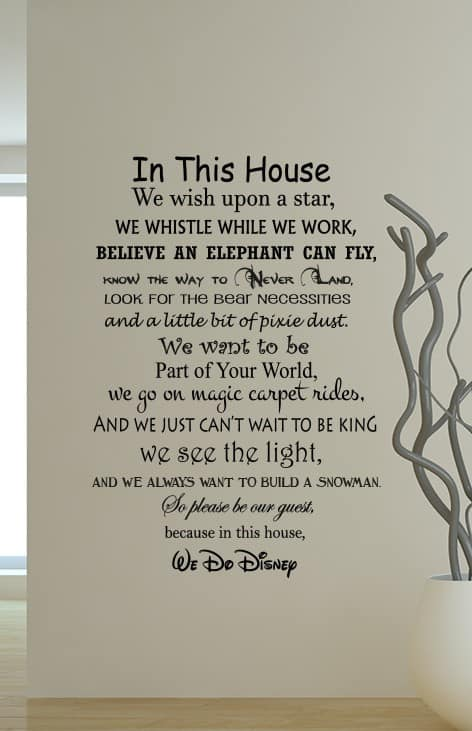 we do disney wall decal sticker for the home that livesdisney rules