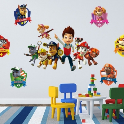 Paw Patrol Wall Decal Sticker Set