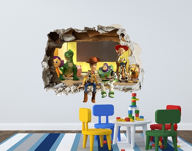 Toy Story 3D Smashed Wall Decal featuring the cast of Toy Story