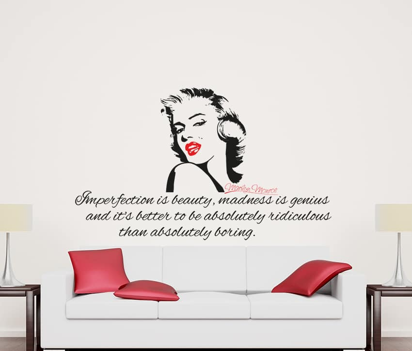 Marilyn Imperfection Wall Decal