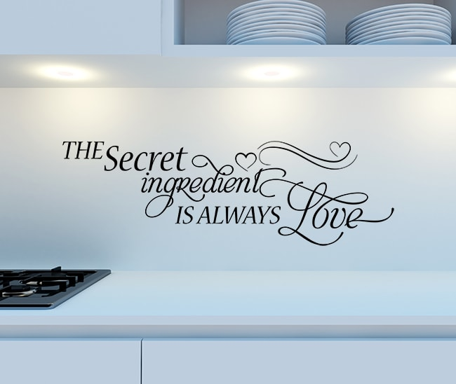 Secret Ingredient Wall Decal , Kitchen wall decal, quotes for kitchen, wall decals kitchens, kitchen wall stickers,