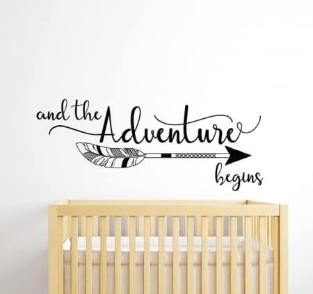 The Adventure Begins Wall Decal