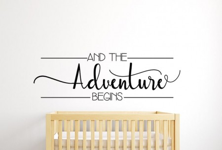Adventure Begins Wall Decal