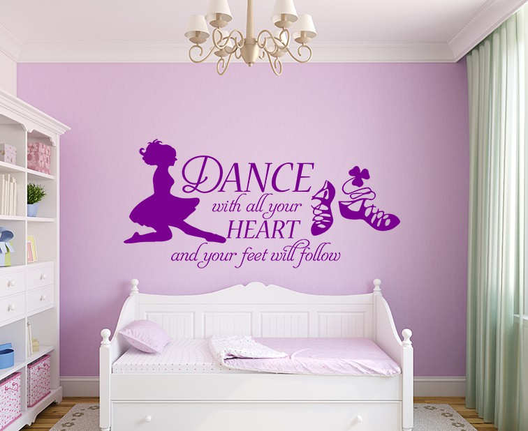 Dance with all your heart irish dance wall decal