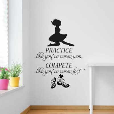 Irish dancer practice compete wall decal
