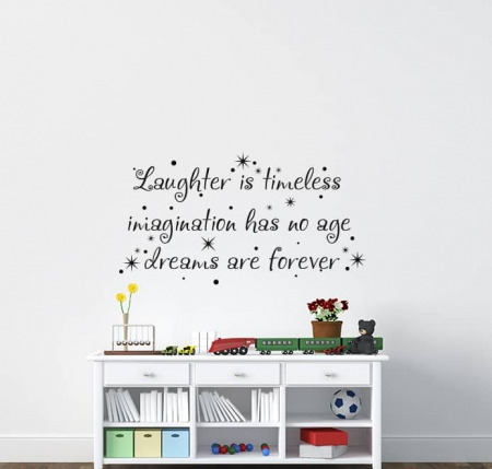 Laughter is Timeless Wall Decal Sticker