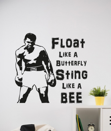 Muhammad Ali Wall Decal Sticker