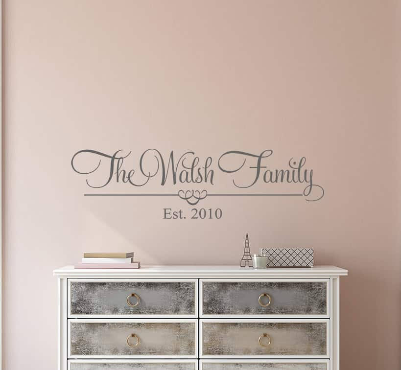 Personalised Family Name Wall Decal Sticker