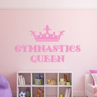 Gymnastics Queen Wall Decal, Gymnastics Wall sticker quote