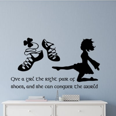 Irish dance right shoes wall decal