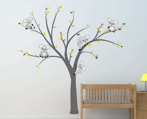 Cute Koala Tree Wall Decal