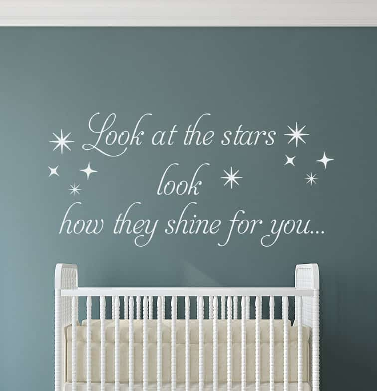 Look At The Stars Wall Decal