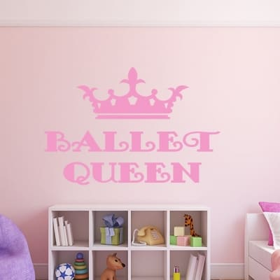 Ballet Queen Wall Decal, Ballet Queen Wall sticker, Ballet Wall Decal sticker quote