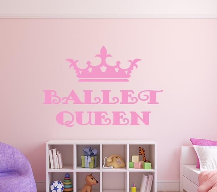 Ballet Queen Wall Decal, Ballet Queen Wall sticker, Ballet Wall Decal sticker quote