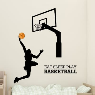 Basketball Wall Decal Sticker